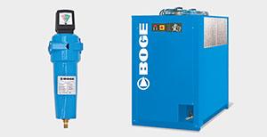Abbildung der Luftbehandlung von BOGE Kompressoren