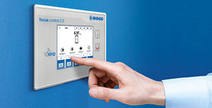 Image Of BOGE Compressors Focus Control Product In Use By Male